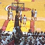4:16 in 2nd Q HEAT #3Peat Run starts. LaBron to Wade, 2 HEAT TAKE LReAD then 3;48 Wade to Labron 2 . LETS GO HEAT! http://t.co/fwe9YbTd10