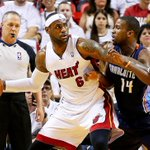 RT @ESPNNBA: .@KingJames (27p, 9r) leads @MiamiHEAT to win over @bobcats in Game 1. #TheTen: http://t.co/UykAF4Jr1b http://t.co/rzih9AZPHZ