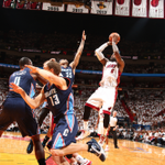 RT @BleacherReport: The Heat take Game 1 with a 99-88 win over the Bobcats! LeBron finished with 27 points and 9 rebounds in the win http://t.co/me1ZVvuMFm