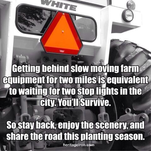Good reminder during #plant14 (& any time of year!)  RT @dairyguy2: It's that time of year again...   drive safe. http://t.co/2AqDKnLMx2