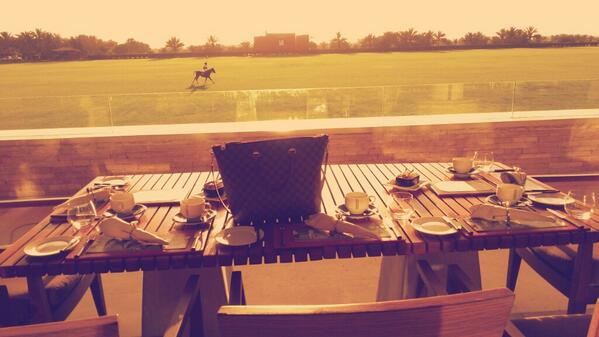 High tea at @DesertPalmDubai - beautiful view & good food. http://t.co/HDYXjr0FZo