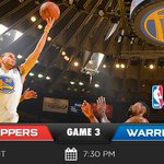 IT'S GAME DAY!!! The #NBAPlayoffs are back on #WarriorsGround tonight for Game 3. Preview » http://t.co/5Ae4lLtOTL http://t.co/K1xviaWUMz