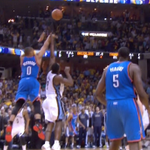 RT @BleacherReport: VIDEO: Russell Westbrooks crazy 4-point play to lead the Thunder to OT vs. Memphis http://t.co/m3WXpsJQkT http://t.co/05ekP6CjdE