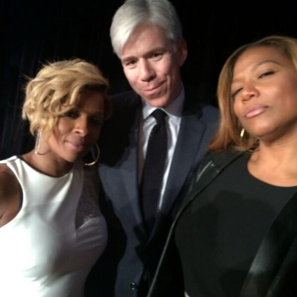 S/O my man @davidgregory at the Matrix Awards NYC w @maryjblige @IAmQueenLatifah he just sent me this dope text pic! http://t.co/6kQKyTYlR4