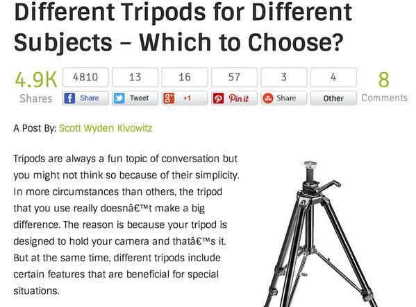Let's Talk About Tripods http://t.co/TL3j5eIu06 http://t.co/WVkBFqaT5u