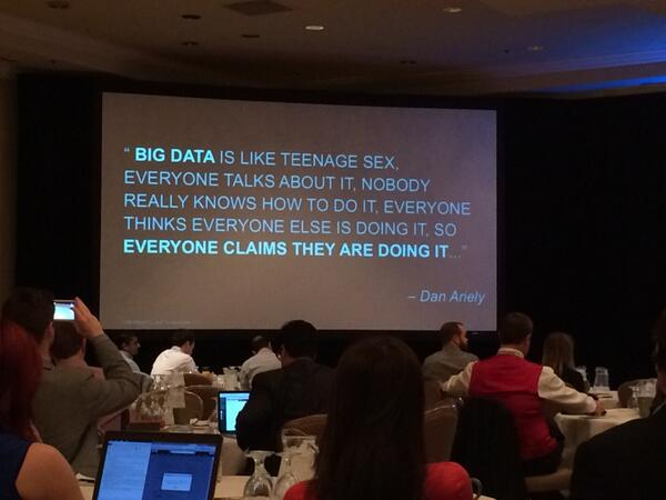 The truth about big data... #xcmo14 #measure http://t.co/IBNitwRBto