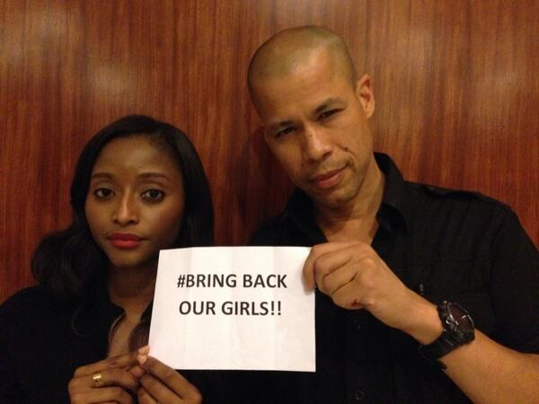 With @IshaSesayCNN in Nigeria & #CNN team covering missing    schoolgirls. We all want answers!!#BringBackOurGirls http://t.co/3lJ4L7euWI