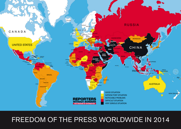 #Pressfreedom Day. Find here Reporters Without Borders' annual Index (180 countries) http://t.co/RAsa7Ehdh4… http://t.co/pjcUf8rO7e