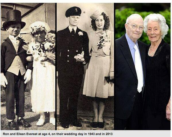 Couple who posed as bride and groom at age 4 still going strong at 91. http://t.co/P2ow7SQTJq
