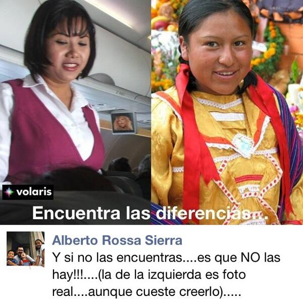 Alberto Rossa Sierra, profesor de la @udg_oficial, se burla de las azafatas de @viajaVolaris y la comunidad indígena http://t.co/huELAsfCce