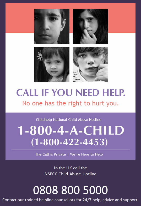 Call if you or someone you know needs help.   Report it! #StopChildAbuse w/@helpspreadthis http://t.co/TxJCsMJegC ⊕http://t.co/JLl1Hy6bCk