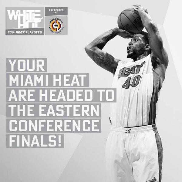 WE ARE GOING BACK TO THE EASTERN CONFERENCE FINALS #HEATnation!!! AHHHHH YEAHHHHH!!! WHAT. A. GAME.!!! WOW! #HEATwin! http://t.co/Nv7E9NGmax