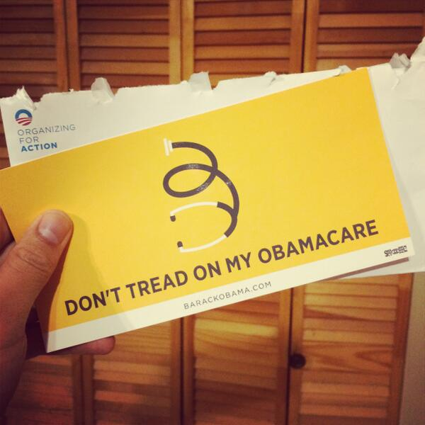 Woot! Just got my new #Obamacare sticker. http://t.co/wiFa7Hn9Ep