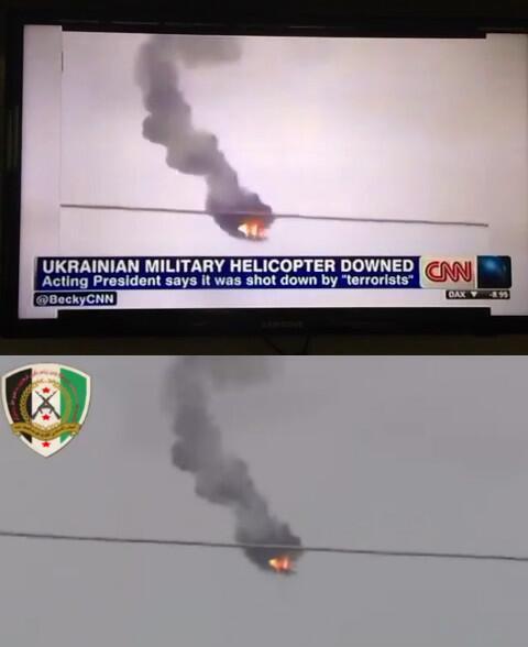 Journalism??? @CNN used Syria shot covering #Ukraine + Ukr TV covers news using Syria videos http://t.co/qAPbauaucd http://t.co/1psjRTRQdX