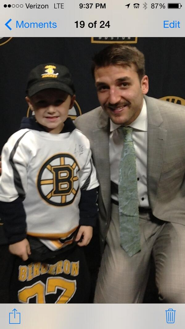 Rt to get Patrice Bergeron on the cover! #nhl15bergeron (Patrice with Colin Casey) #classact http://t.co/YYxSpNAR6O
