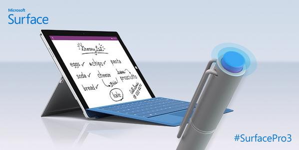 "RT @MicrosoftES: Puedes abrir OneNote de manera instantánea con el nuevo lápiz de #SurfacePro3 http://t.co/3jRKr96qXm"""