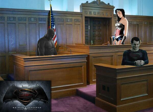 Artist's rendering of what 'Batman V Superman: Dawn Of Justice' may look like: http://t.co/0sgWTDzzoV
