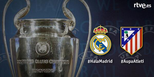 Vive la Champions desde 5 cámaras en RTVE. ¡Y apoya a tu equipo con #AupaAtleti o #HalaMadrid! http://t.co/88Ijbhv8Wg http://t.co/Y7F4H0SMD0