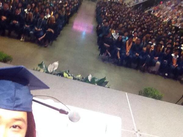 "KHS Salutatorian ""But first... Let me take a selfie"" #JOANNE #LOVETHISGIRL http://t.co/DfXqjM6xHT"
