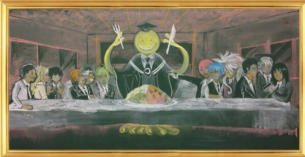 暗殺教室版最後の晩餐w #黒板アート