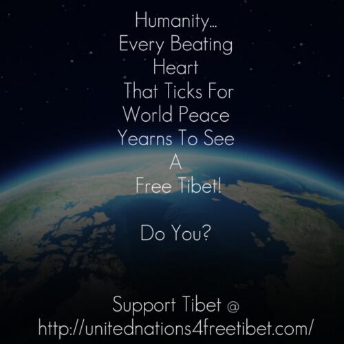 @BlogAndBlogger @nekopunch97 @fundonie @Tibet_TW Sorry China...the earth does not revolve around you! FREE TIBET! http://t.co/FpN4IOsAnD