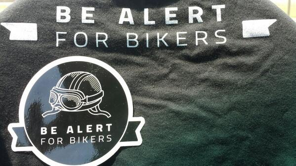 """Get your """"Be Alert for Bikers"""" swag NOW! http://t.co/2STVpA4iCk"""