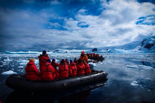 Whale watching in Antarctica. Seeing them breach is truly majestic! http://t.co/OG0PPukWya