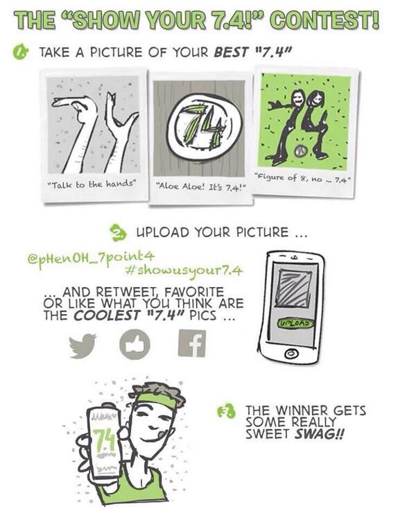 Check out the @pHenOH_7point4 contest #showusyour7.4 !!  Great new drink about to hit the shelves http://t.co/pGryHZbnk3