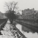 Dock Feeder Canal 1947. Covered in 1949, it runs under what is now Churchill Way & still feeds Cardiff Docks #Cardiff http://t.co/oHu7QbM6jQ