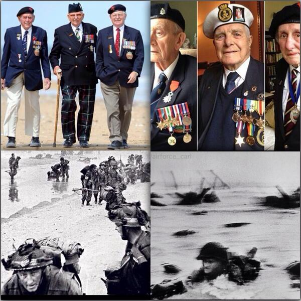 "How many Retweets can we get for the amazing veterans of #WWII #DDay70 - absolute heroes ""never forget"" http://t.co/3C8aPETzjQ"