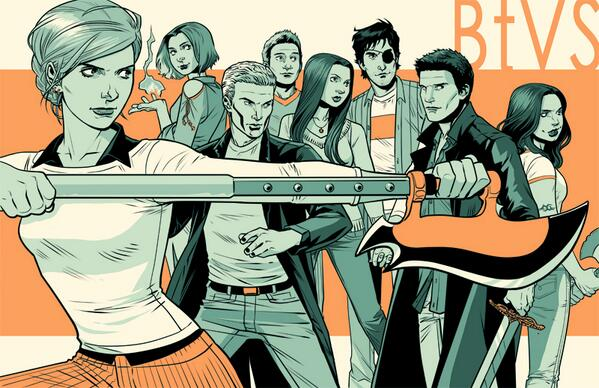 I'll have my new 11x17 #Buffy print for sale at @SpEditionNYC!  It should be a little less green in person. http://t.co/3Z6IE0QwWW