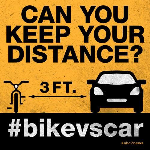 #BikeVsCar is the wrong message,  @ABC7. Respect of any person on our streets should never be a controversial issue. http://t.co/W2IyauJeGZ