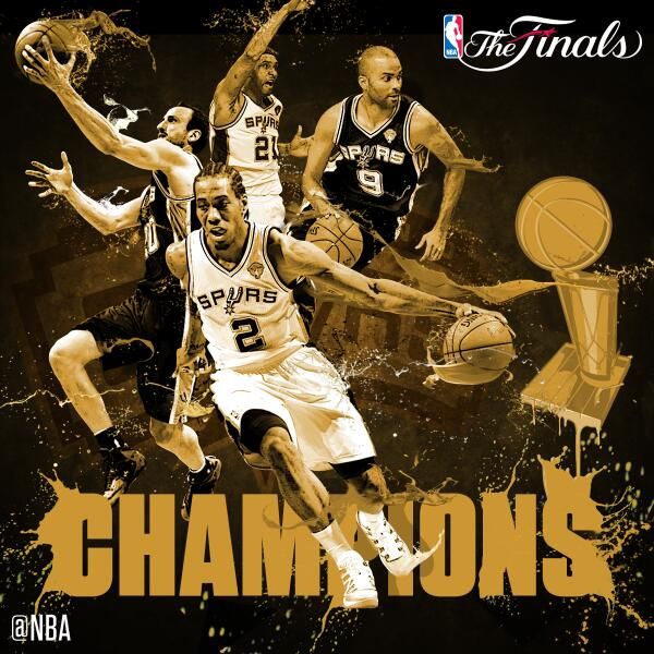 The @spurs are the 2014 NBA Champions!!! http://t.co/ETlRYiWpRM