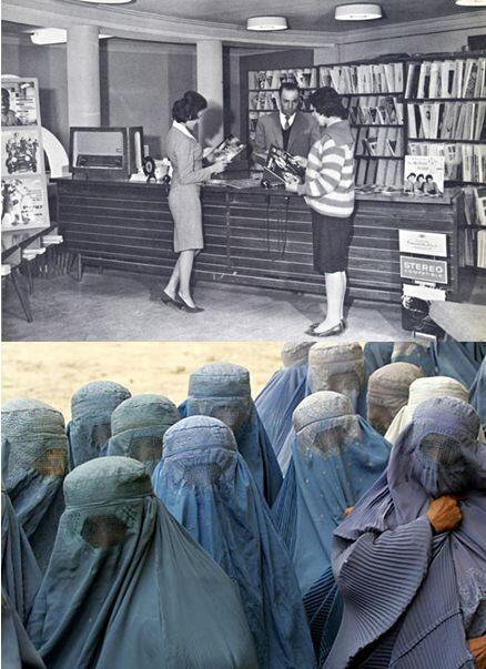 """@HistoryInPics: Afghan Women in 1950 vs. 2013 http://t.co/wvH1INSKCB"" is this for real?"