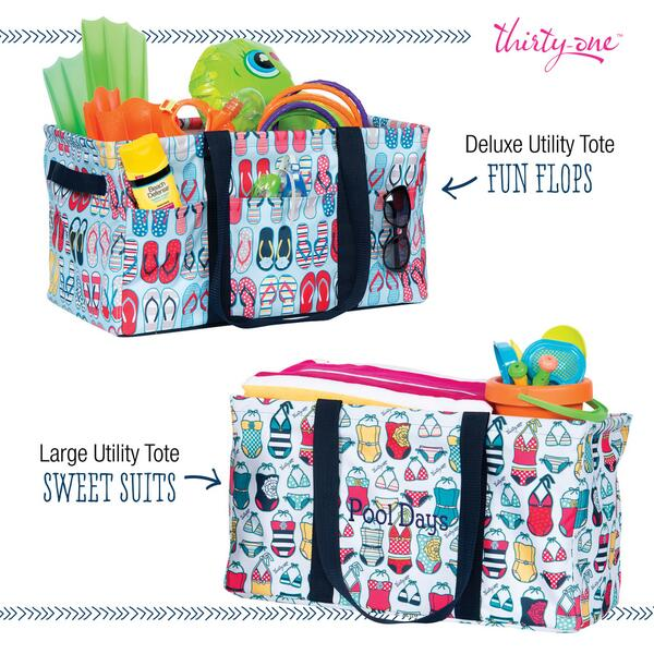 This month only you can get our Large Utility Tote and Deluxe Utility Tote in Sweet Suites and Fun Flops! http://t.co/Hbu11bRjz7
