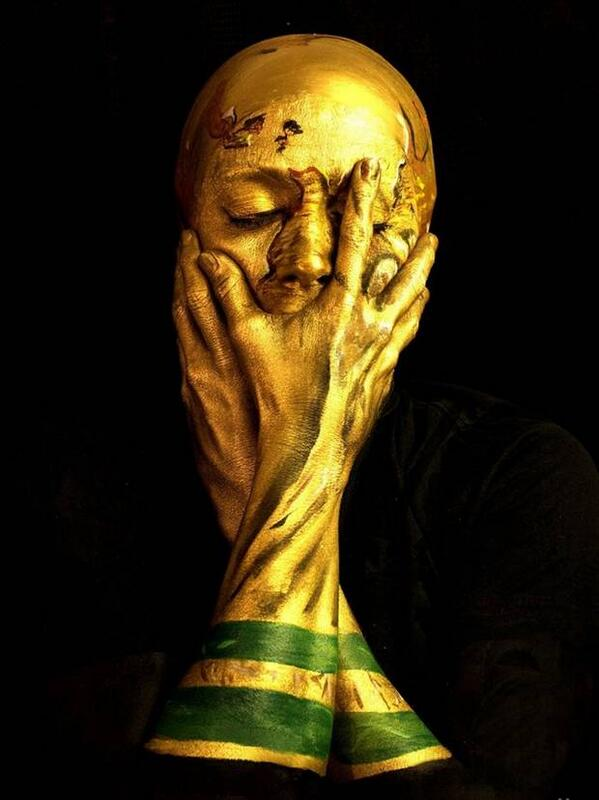 London artist turns herself into the World Cup. Amazing. http://t.co/eZcnwSMvnS http://t.co/49ded0vILG
