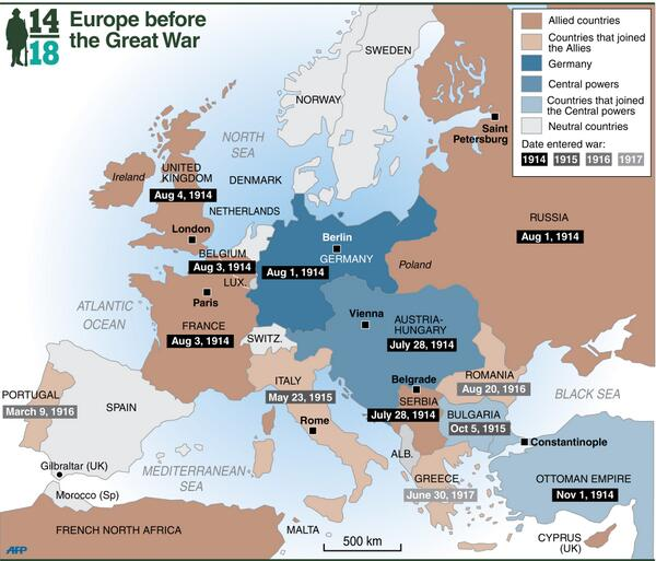 An infographic map of europe showing the pre war nations their an infographic map of europe showing the pre war nations their alliances and gumiabroncs Gallery