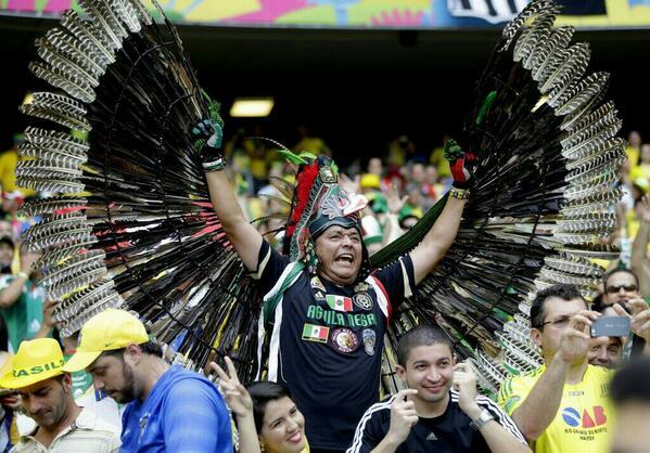 Vamos fuerza AZTECA! Lo llevas en la sangre #MEX ! GUERREROS en #Brazil2014 http://t.co/BgAOM7t04w