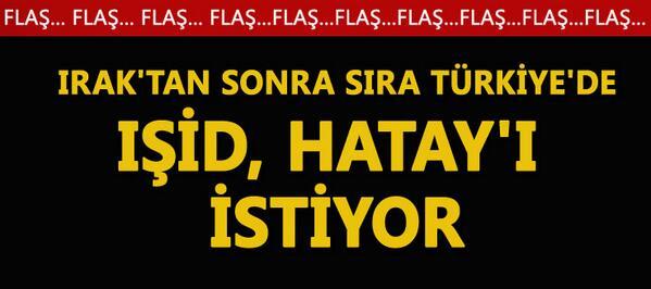 Muhalif Gazete (@muhalifgazete): IŞİD, Hatay'ı istiyor! http://t.co/kJCZ3H7727 http://t.co/AG1ZVLDOad