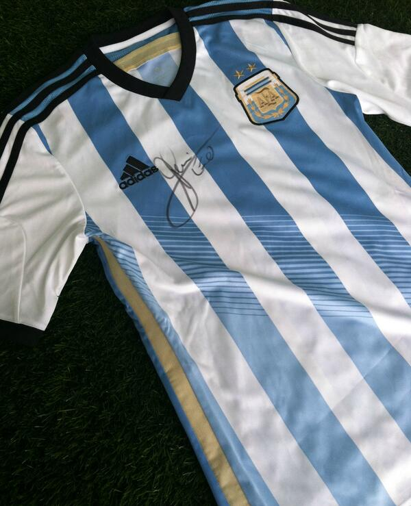 Retweet & Enter for a chance to win an @adidassoccer #ARG jersey signed by Lionel Messi -> http://t.co/5m1wHG0GGt http://t.co/SOn4grRFTr