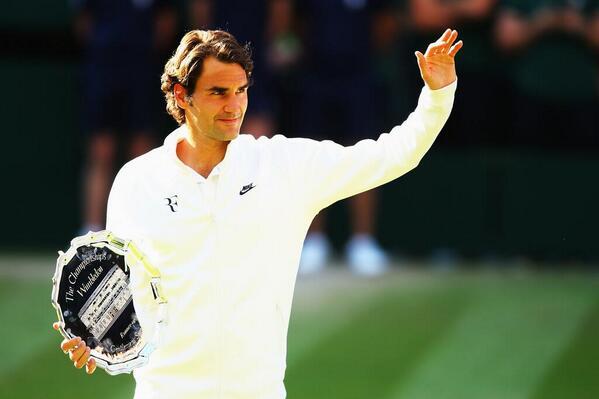 Champion forever. #Federer #Wimbledon #BEL18VE http://t.co/yBb4FBcien