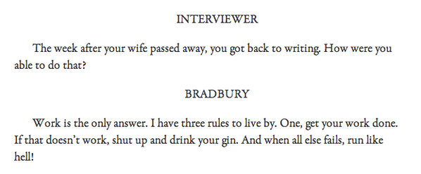 The Ray Bradbury guide to coping with grief, from @parisreview. http://t.co/RAiPqupgV0