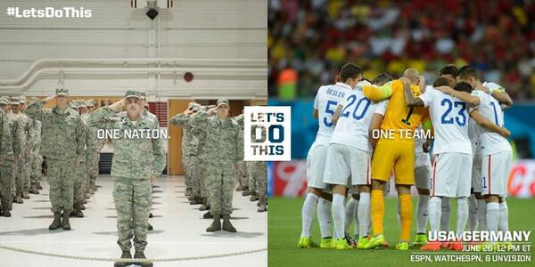 One team. One nation. #LetsDoThis @ussoccer #WorldCup #AirForce http://t.co/sDRs8Y5X24
