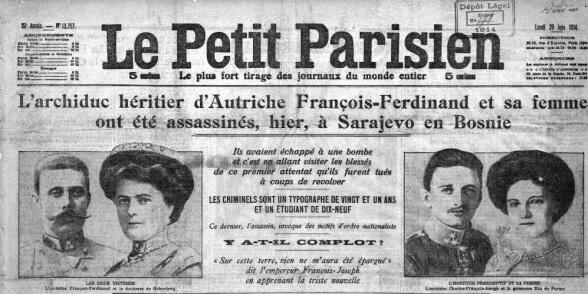 La une du Petit Parisien le 29 juin 1914 : http://t.co/ch3KiY7U8j #Sarajevo http://t.co/PwjAL9yW5S