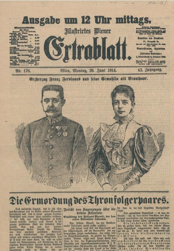 How the newspapers of the time covered the Franz Ferdinand assasination http://t.co/pVhBG6bSse #WW1 /via @eurnews http://t.co/UBSauXf6HO