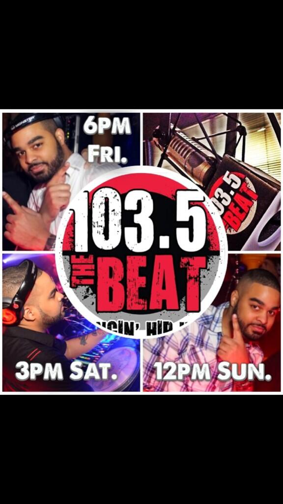 Catch me on @1035TheBEAT 2mrw @ 6pm, Sat @ 3pm & Sun @ 12pm! 4th Of July All Star Wknd Mix!!! http://t.co/F58sh2oKKS