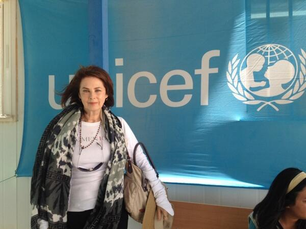 We applaud @UNICEF Ambassador @dayleythought for her work in #Syria & are honored you brought @theodoracallum along! http://t.co/LD7zv3QSts