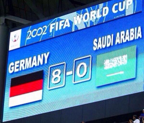 My favourite tweet today, from a Saudi tweep. TT @pt_mm: our record is in danger!  #البرازيل_المانيا #BRAGER http://t.co/yC02plUMDI""