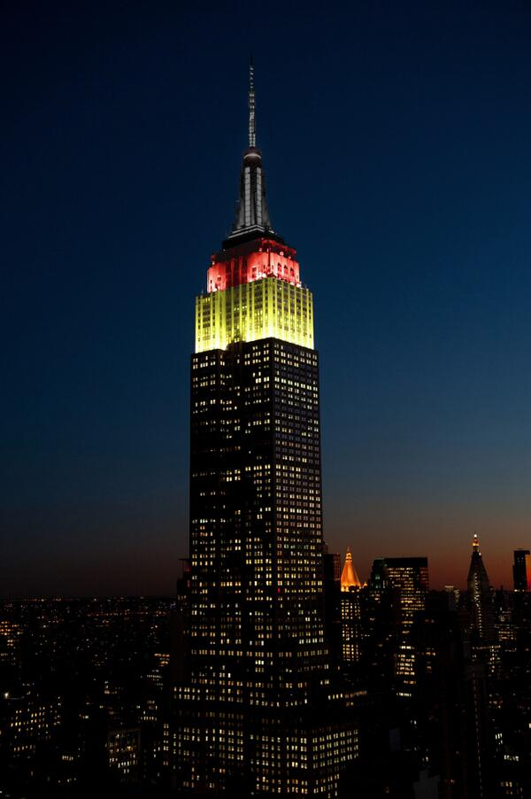 We'll shine gold, red & black tonight to honor the advancement of #GER (@DFB_Team) in the #WorldCup! #BrazilvsGermany http://t.co/LcWw1znVAQ