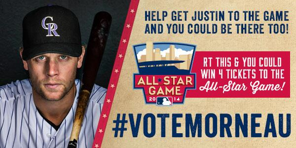 Retweet this for your chance to win 4 TICKETS TO THE ALL-STAR GAME! Let's get Morny to Minny! #VoteMorneau http://t.co/qRGZcZx8aS